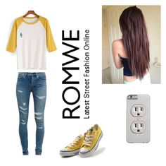 """Untitled #298"" by kiaraford123 ❤ liked on Polyvore featuring Converse and Yves Saint Laurent"