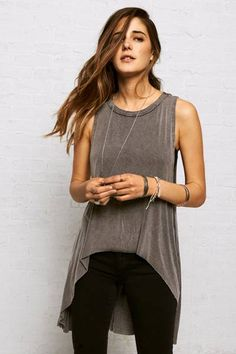 $34.95 Don't Ask Why Hi-Lo Tank  by AEO | The newest collection to hit American Eagle Outfitters. Designed in one size to fuse the effortless street style of New York, L.A. and Milan with festival-inspired edge. The breezy pieces are perfect for mixing, matching and layering.  Shop the Don't Ask Why Hi-Lo Tank  and check out more at AE.com.