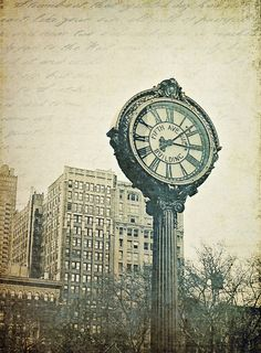 """Fifth Avenue Clock"" by Linda McMaster on Displate #clock #fifthavenue #street #urban #vintage #newyork #nyc #displate"