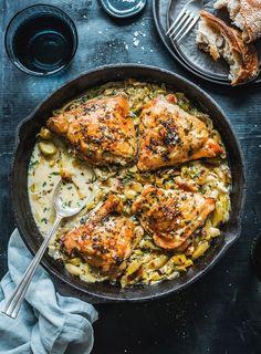 Tarragon Chicken and Leeks   dish - Dish