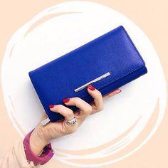-20% su Marc Ellis, Coccinelle, Chiarini e... manlioboutique.com Portafogli €98 -> €78,40  #style #fashion #blu #wallets