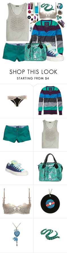 """Pretty As A Car Crash"" by mcpanda ❤ liked on Polyvore featuring Anthropologie, PacSun, American Eagle Outfitters, Balmain, Converse, Chanel, Pauric Sweeney, Mimi Holliday by Damaris, Tarina Tarantino and SOLD Design Lab"