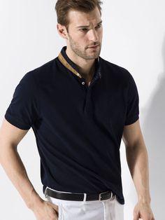 MANDARIN-COLLAR POLO SHIRT Polo T Shirts e4945f921