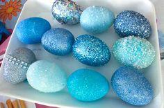 Let Embellished Easter Eggs dry overnight