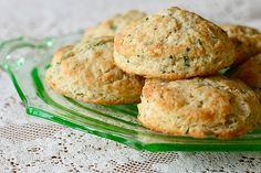 Buttermilk chive biscuits