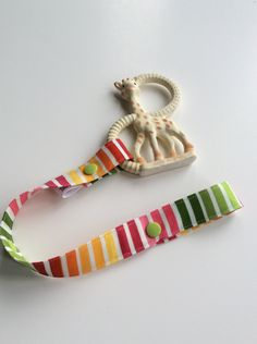 ad3d1f6b40c2 RAINBOW STRIPES - Toy Tether - Toy Leash - Toy Strap - Sippy Cup Tether -  Soother Tether - Baby Gift - Shower Gift Under 10 dollars