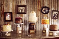 I LOVE the idea of having multiple cakes set up! <3 so many great flavors to choose from