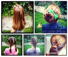 Girly Do's By Jenn: 100 Days of Hair {Year 2-- Week 1}