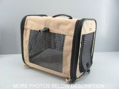 Pet Carrier Small Dog or Cat Crate  NWOT Travel Padded Camping Day Tripper  #DayTripper