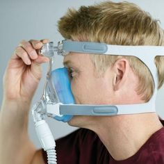Amara™ Gel Full Face Non-Rx CPAP Mask  - It's 20% lighter and has 60% fewer parts than the leading full-face mask--helping to make this mask easy to use, easy to maintain, and easy to live with.