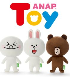 ANAP TOY LINE CHARACTER・3キャラクターBig - OUTLET - ANAP オンラインショップ[通販]