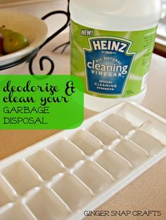 freeze vinegar into ice cubes to clean garbage disposal @GingerSnapCraft #HeinzVinegar #cBias    #HeinzVinegar    Then you put them down your garbage disposal