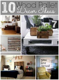 10 Wood Pallet Decor Ideas