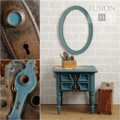 Fusion Mineral Paint in Homestead Blue is a historical blue from our Canadiana Collection that has stood the test of time for over 20 years when we first came out with it. Grey and muted teal undertones goes well with deep yellows, reds and all neutrals. Diy Furniture Projects, Furniture Makeover, Furniture Cleaning, Furniture Repair, Furniture Refinishing, Diy Projects, Annie Sloan, Paint Line, Mineral Paint