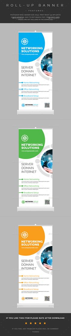 Networking Roll-Up Banner  — PSD Template #photoshop #corporate. shape #signage…