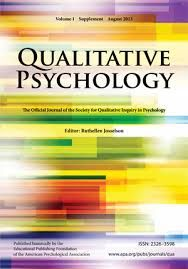 Qualitative Psychology [recurs electrònic] Washington : Educational Publishing Foundation, 2013-