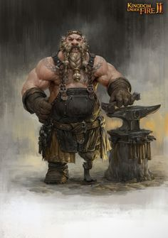 kingdom under fire2 dwarf concept , Sungryun Park on ArtStation at https://www.artstation.com/artwork/mnk08