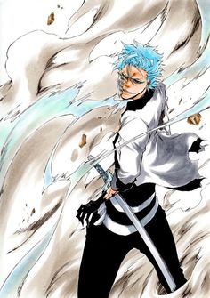 TYBW Grimmjow Jaegerjaquez by : bleach Bleach Manga, Bleach Fanart, Bleach Characters, Manga Characters, Shinigami, Bleach Pictures, Manga Anime, Anime Art, Character Art
