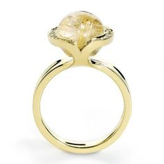 Exquisite Celestial Rutile cocktail ring by Andrew Geoghegan
