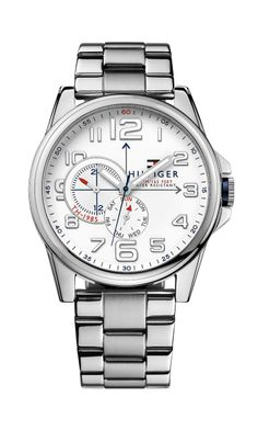 SILVER BRACELET STRAP Watch in Stainless Steel from Tommy Hilfiger. Great for a Father's Day or graduation gift!
