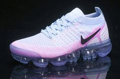 Beautiful Nike Air VaporMax Flyknit 2 White Hydrogen Blue Pink 942843 102 Womens Running Shoes Trainers - Women's Sneakers Buy Shoes, Women's Shoes, Shoe Boots, Shoes Sneakers, Zebra Shoes, Mint Shoes, Gucci Sneakers, Puma Sneakers, Yeezy Shoes