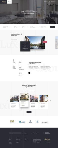 Ideas Design Website Wordpress For 2019 Website Design Inspiration, Best Website Design, Real Estate Website Design, Website Design Layout, Homepage Design, Web Design Trends, Web Layout, Layout Design, Interior Design Website