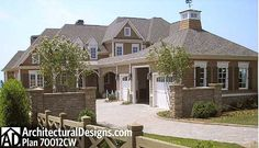 Architectural Designs House Plan 70012CW gives you over 6,200 sq. ft. Of living and fantastic views to the back.
