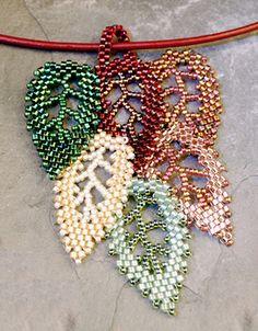 Bead weave leaves
