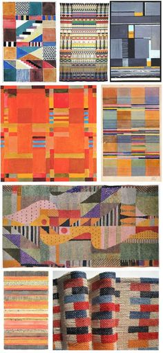 "Gunta Stolzl | Bauhaus Weaver and Textile Designer I had to pin this one!! One of sections to complete within my project is ""Looking at how repeat pattern is used within the art movement historically and culturally"" Bauhaus was a classic art movement. I adore the colour of Gunta Stolzl. It's vibrant and cheerful. The pattern isn't to over the top either. I am going for an interesting surface pattern however i do not want it to be to heavy…"