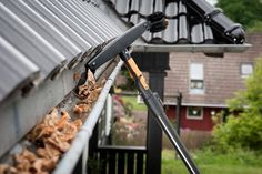 Do you install gutters on your own? Then how can you repair a gutter? Not only it is risky but also you can damage the expensive gutter. Additionally, it will lead to further money spending. Rain Gutter Cleaning, Roof Cleaning, House Gutters, Gutter Protection, Window Cleaning Services, Cleaning Companies, Residential Windows, How To Install Gutters, How To Clean Gutters