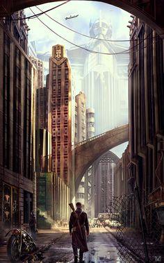 Dieselpunk City - by Nagy Norbert