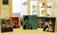 Invito e cavallotti segnatavolo per un 18° compleanno tutto a tema Audrey Hepburn
