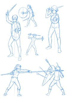 Figure Drawing Reference, Animation Reference, Art Reference Poses, Fighting Drawing, Knight Drawing, Medieval Drawings, Fighting Poses, Sketch Poses, Weapon Concept Art