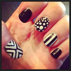 My favorite black and white nails
