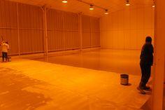Pintura Epóxi, execução em piso de laboratório.