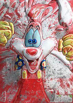 Pop Art Wallpaper, Cute Disney Wallpaper, Cartoon Wallpaper, Graffiti Characters, Cartoon Characters, Looney Tunes Cartoons, Roger Rabbit, Felix The Cats, Rabbit Art
