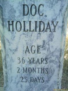 Visit Doc Holliday's grave in Glenwood Springs, Colorado. www.visitglenwood.com