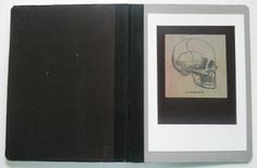 Mod podge skull notebook