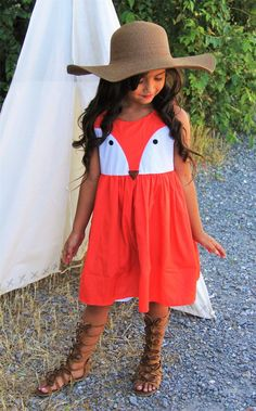 Fox Face Dress #boutique-outfits #dresses #new #perfect-sets #spring-line