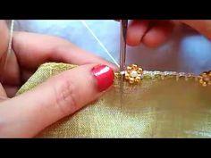 Bridal krosha kuchu design // Nandana Creations // - YouTube Saree Tassels Designs, Saree Kuchu Designs, Green Midi Dress, Cape Dress, Crochet Designs, Ring Designs, Tatting, Sarees, Embroidery Designs