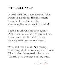 The call away - Robert Bly