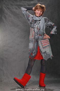Пиджаки, жакеты ручной работы. валяный кардиган