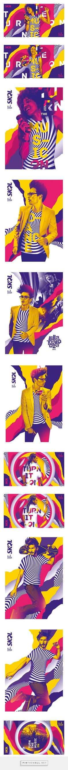 Skol MUSIC-ON   Festivais on Behance... - a grouped images picture - Pin Them All