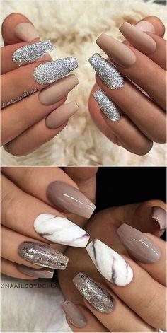 May 2020 - # nail polish Nail Art Trends 2018 - The Marble Nail Designs, Fall Nail Designs, Simple Nail Designs, Acrylic Nail Designs, Classy Nails, Stylish Nails, Sophisticated Nails, Design Ongles Courts, Summer Gel Nails