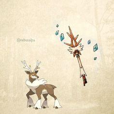 No. 586 - Sawsbuck (Winter). #pokemon #sawsbuck #rod #pokeapon