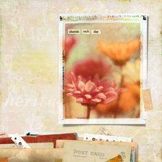 'Cherish Each Day' LO by Michelle Shefveland.  Fantastic blending.  Gorgeous LO!! =)