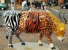 Cow Parade. Cows Gone Wild. West Hartford CT 2007