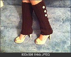 Crochet Leg Warmer Pattern. Really simple