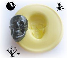 Skull Cabochon Mold Halloween Steampunk Resin Polymer Clay Wax Mold Mould. $5.95, via Etsy.