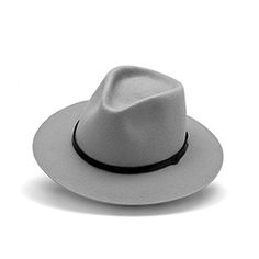Feliz Brazil Fedora hat in light grey 100% wool felt. Made in europe